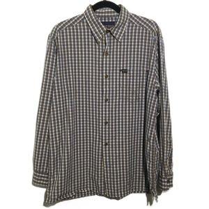 Nautica Plaid Long Sleeve Button Down Shirt